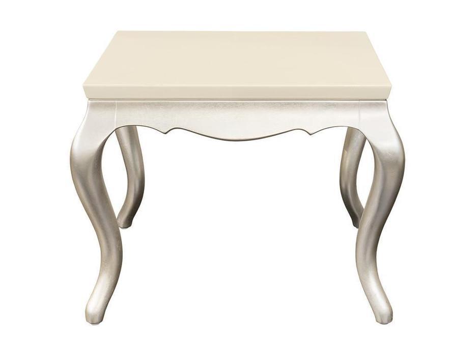 Fratelli Barri столик приставной  (перламутровый кремовый лак, серебро) Venezia