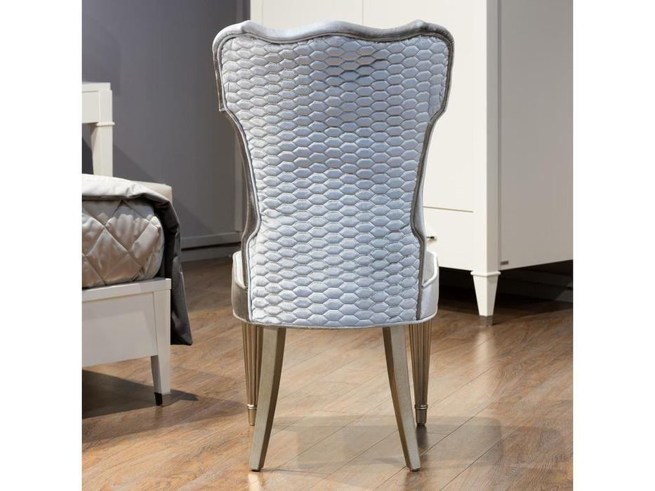 Fratelli Barri стул серебристо серый велюр (серебро) Rimini