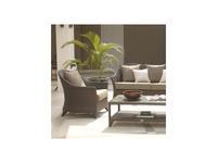 Skylinedesign садовое кресло с подушками (черный кофе, белый) Malta