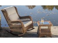 Skylinedesign кресло-качалка с подушками (рыжий) Ebony