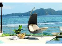 Skylinedesign кресло-качалка с подушками (серый, бежевый) Christy