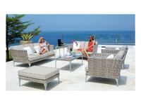 Skylinedesign садовый диван с подушками (Seashell) Brafta