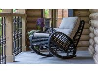 Skylinedesign кресло-качалка с подушками (BLACK MUSHROOM) Taurus