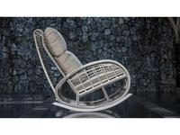 Skylinedesign кресло-качалка с подушками (OFF WHITE MUSHROOM) Taurus