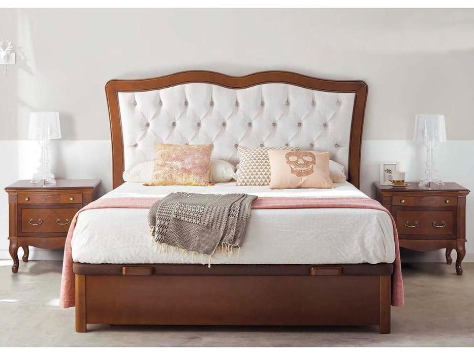 Panamar кровать двуспальная 150х200  с подъемным механизмом (орех) Classic