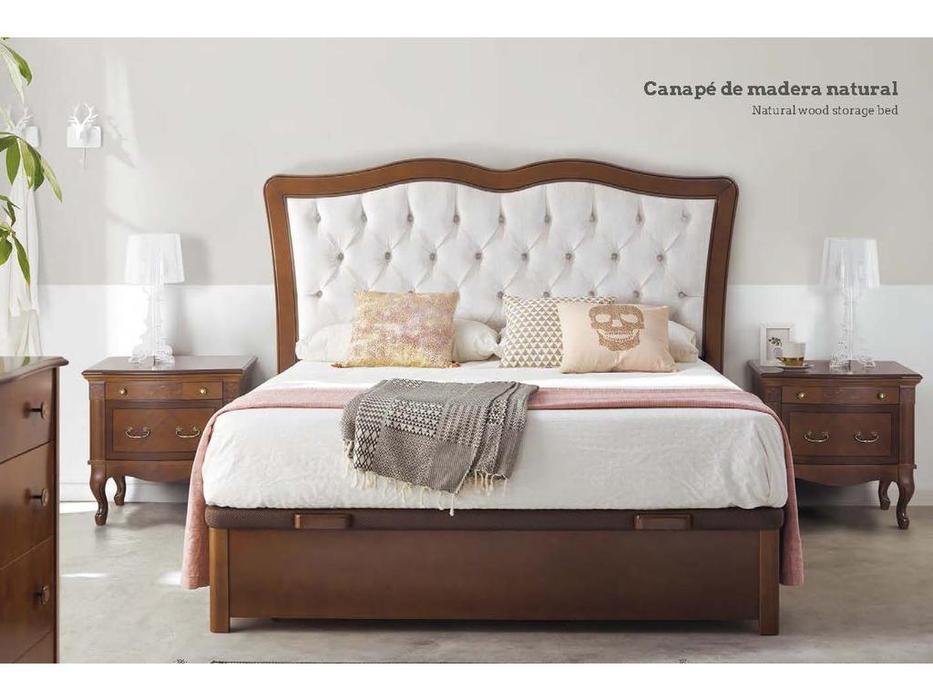 Panamar кровать двуспальная 180х200  с подъемным механизмом (орех) Classic