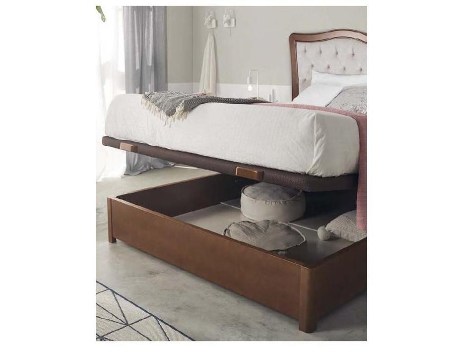 Panamar кровать двуспальная 135х200  с подъемным механизмом (орех) Classic
