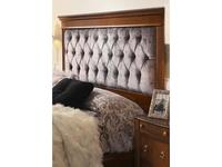 Panamar кровать двуспальная 160х200 ткань Fiesole C4 (орех) Classic