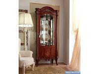 Barnini Oseo витрина 1 дверная  (орех, золото) Prestige