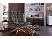ESF кресло вращающееся (коричневый, серый) Modern