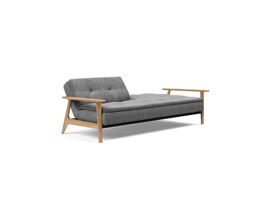 Innovation диван с деревянными подлокотниками тк. 563 (серый) Dublexo