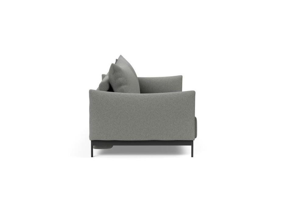 Innovation диван 3 местный раскладной тк579 (черный металл, ткань) Malloy