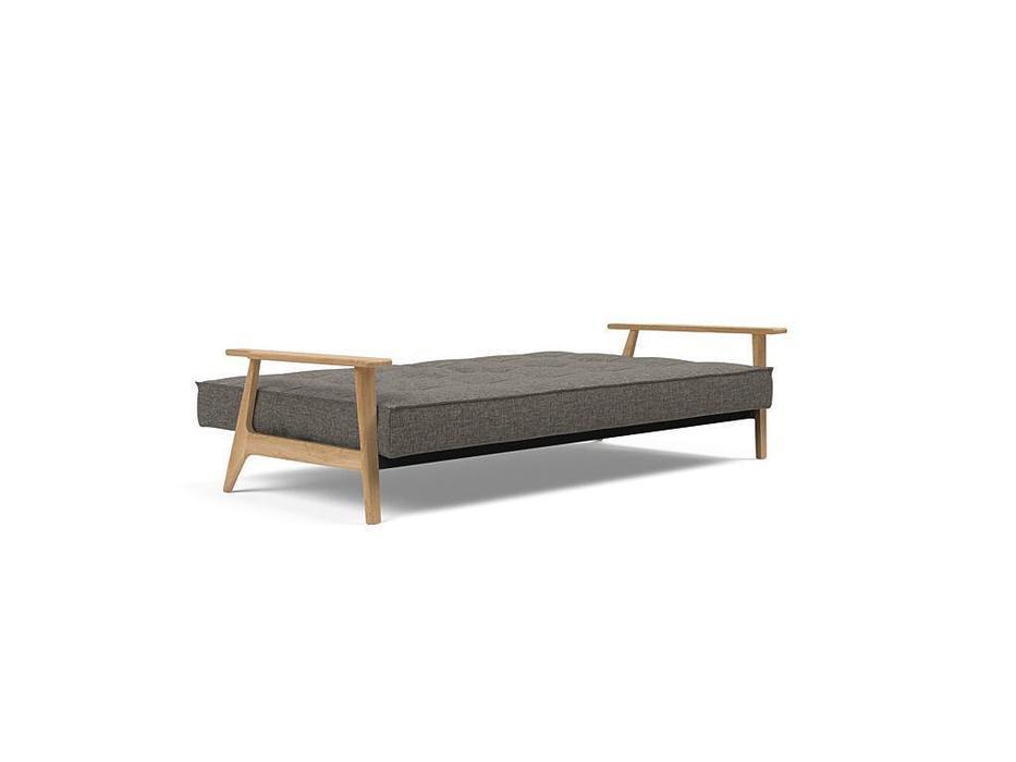 Innovation диван с деревянными подлокотниками тк216 (серый) Splitback
