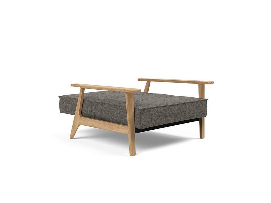 Innovation кресло с деревянными подлокотниками тк.216 (розовый) Splitback