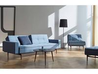 Innovation диван с мягкими подлокотниками тк. 558 (синий) Dublexo