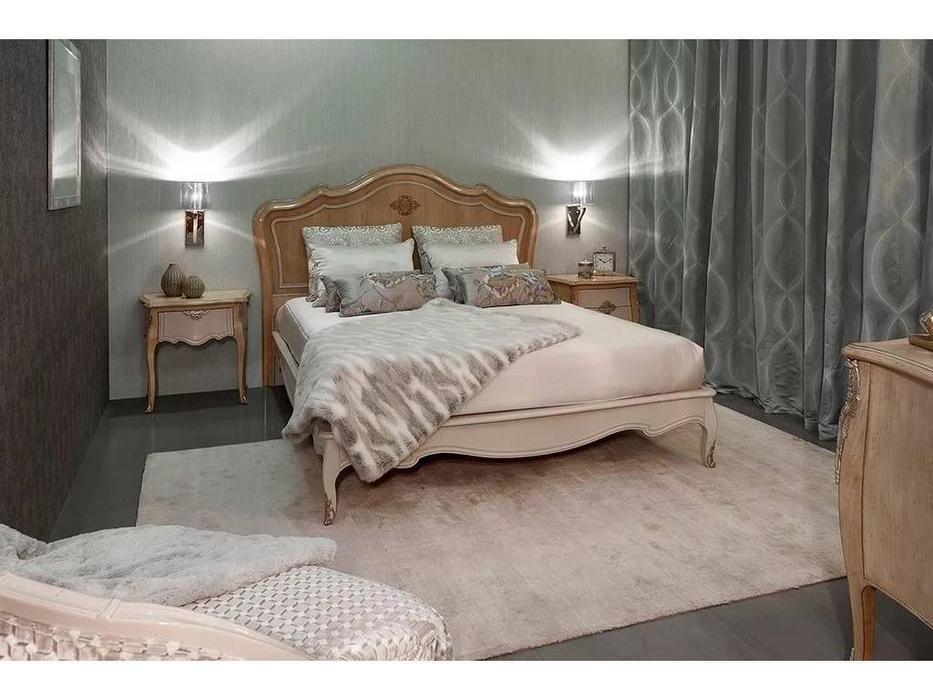 AM Classic кровать двуспальная 200х200 (беж) Majestic Gold