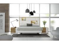 Fenicia Mobiliario спальня современный стиль 160 (белый матовый, натуральный шпон дуба) 611
