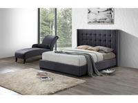 ESF кровать двуспальная 160х200 ткань бархат (серый) Modern