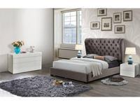 ESF кровать двуспальная 180х200 (темно коричневый) Modern