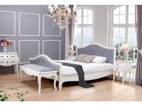 ESF кровать двуспальная 180х200 ткань серого цвета (белый) Provanc