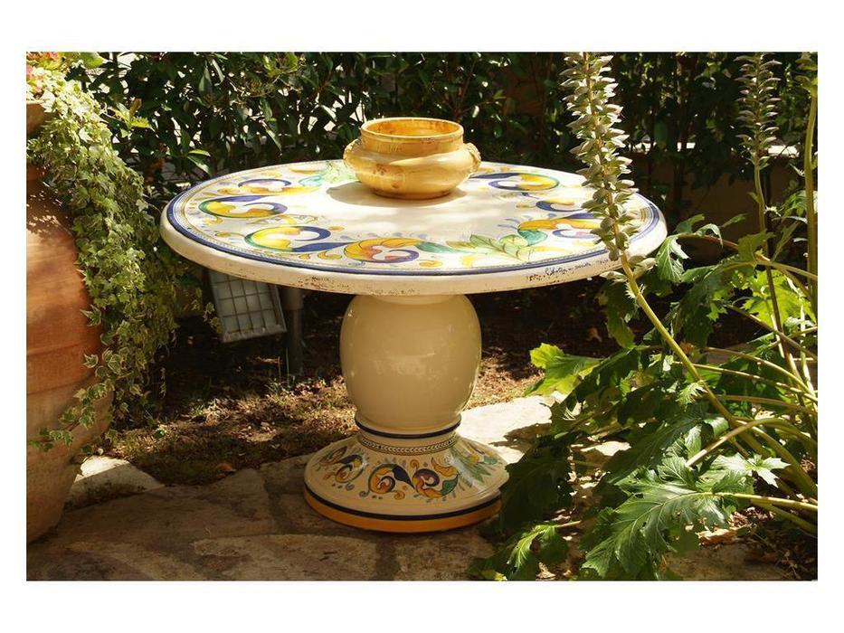 L Antica Deruta стол обеденный Лилия (бежевый) Araldica Umbra
