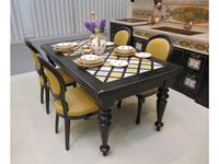 L Antica Deruta стол обеденный раскладной (черный) Campagna Umbra