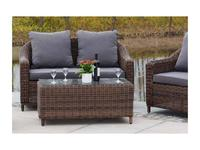 4SIS диван 2 местный  (коричневый) Кон Панна