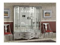 Disemobel витрина 4 дверная  (серебро матовое) Classica