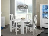 Status стул  (белый, кож.зам серый) Elegance diamond
