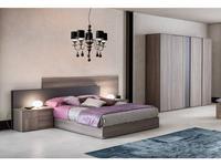 Status кровать двуспальная 198х200 (серый) Futura