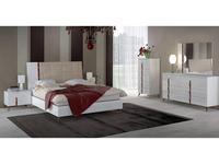 Status кровать двуспальная 154х203 без мягк. Вставки (белый) Sirio White