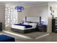 Status кровать двуспальная 198 x 203 Rhombus с мягким изголовьем (серый) Sarah