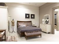 Tosato кровать двуспальная 160х200 с мягким изголовьем (орех) Desideri