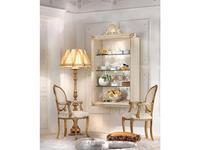 Antonelli Moravio витрина навесная  (белый, золото) Belvedere