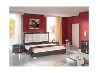 H2O design кровать двуспальная 180х200 с подсветкой (grey) San Marino