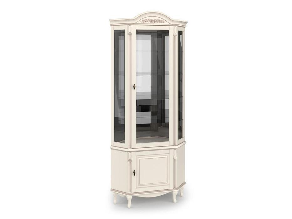 Arco витрина угловая  (белый, патина) Прованс