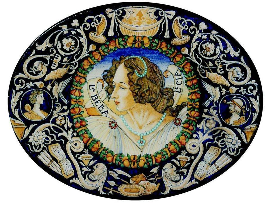 L Antica Deruta тарелка декоративная La Bella Lusia (керамика) Museo