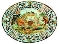 L Antica Deruta тарелка декоративная  Il Viandante (керамика) Museo