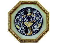 L Antica Deruta картина в раме  La Fortuna (керамика) Museo