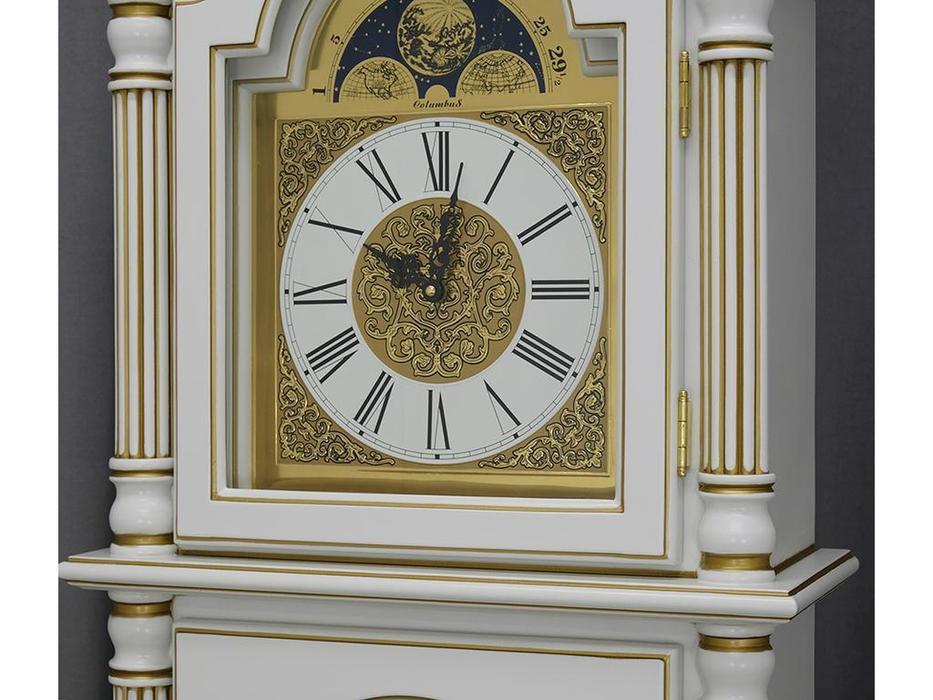 Columbus часы напольные  (белый, золото)