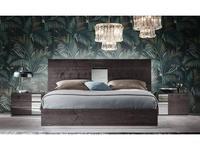 ALF кровать двуспальная 160х200 (dark velvet birch high gloss) Heritage