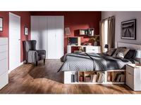Vox кровать двуспальная 160х200 с подъемным механизмом (белый) 4YOU