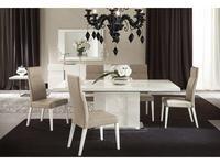 ALF стол обеденный раскладной (bianco lucido) Canova