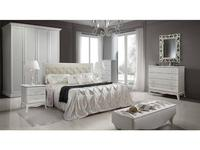 ЯМ кровать двуспальная 180х200 с мягким элементом (выбеленный дуб) Амели