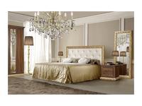 ЯМ кровать двуспальная 180х200 с мягким элементом (крем, золото) Тиффани