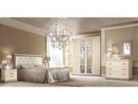 ЯМ спальня современный стиль с 4-х дверным шкафом (крем, серебро) Тиффани