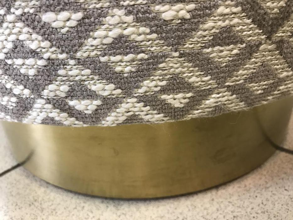 Artsit пуф круглый (латунь, ткань) Пианиссимо