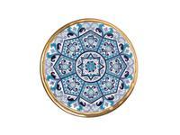 Artecer тарелка декоративная 28см (золото, синий) Ceramico