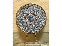 Artecer тарелка декоративная 23см (золото, синий) Ceramico