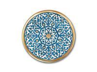 Artecer тарелка декоративная 32см (золото, синий) Ceramico